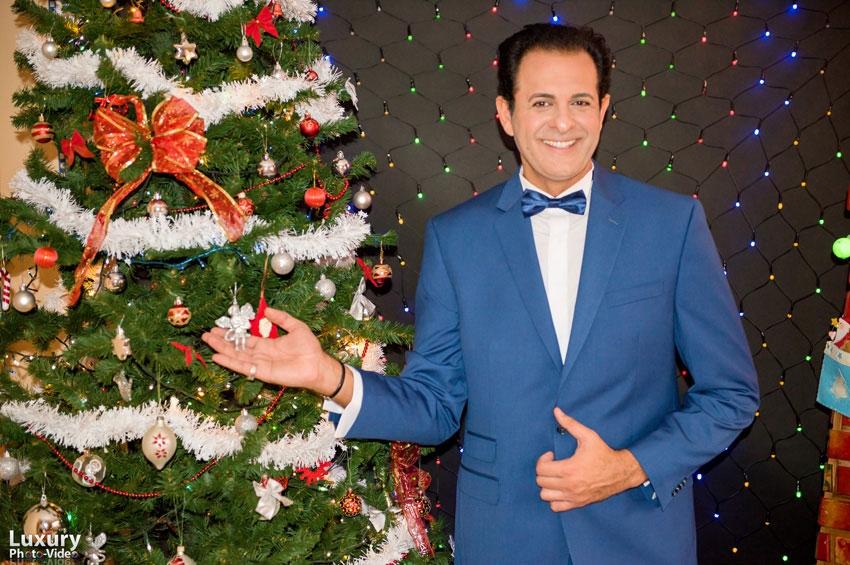 Daniel Ganea, actorul româno-american într-o incursiune la Castelul Bran, de Crăciun